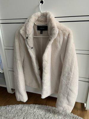 Neue Faux Fur Jacke - cremeweiss - Gr. 34/XS