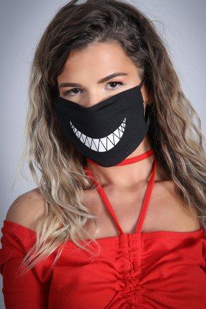 Neue Feinstaubmaske / Staubmaske - Atemschutzmaske /Mundschutz - Gesichtsschutz Maske schwarz mit Motiv