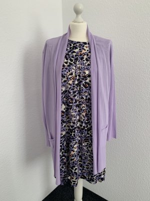 Cappotto a maglia viola