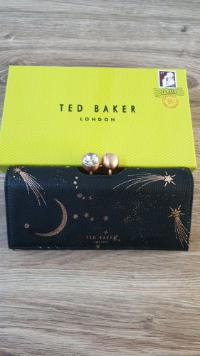 Ted baker Portemonnee zwart-roségoud Leer