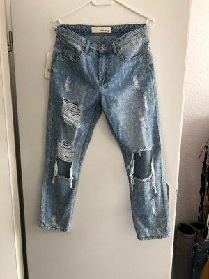 Jeans boyfriend multicolore