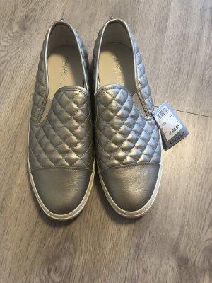 Neue Geox Sneaker Slipper gesteppt metallic Gr. 41