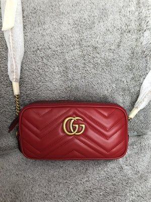 Neue Gucci original Marmont Tasche bag rot red