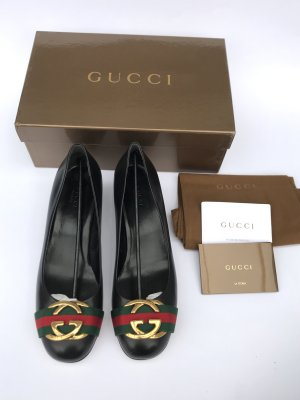 Neue Gucci Pumps Ballerinas Leder Blogger Gr 39,5
