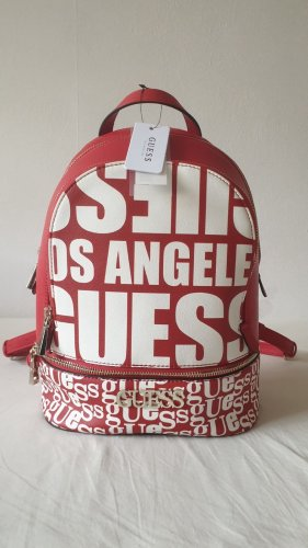Guess Beachwear Laptop rugzak baksteenrood