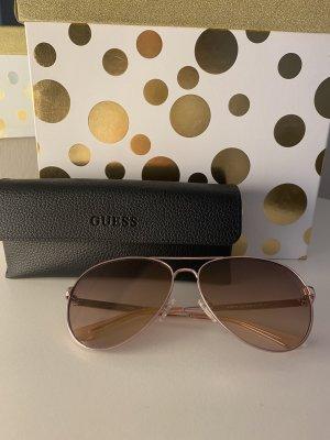 Guess Okulary pilotki w kolorze różowego złota