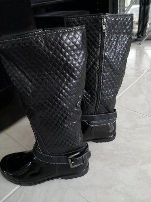 Botte en caoutchouc noir polyester