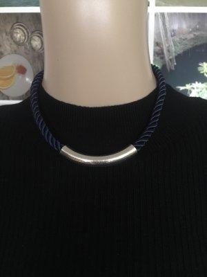 Bijou Brigitte Collar azul oscuro-color plata