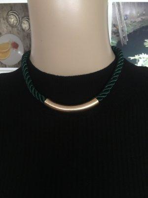 Bijou Brigitte Collar verde oscuro-color oro
