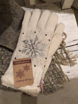 Neue Handschuhe wollweiss creme warm