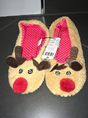 Neue Hausschuhe - Rentier - Weihnachten