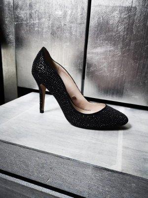 Neue High Heels von Zara Basic Gr 40 schwarz Strass Pumps festlich edel Highheels Sandalen Sandaletten glitzer Strasssteinschen neu schwarz