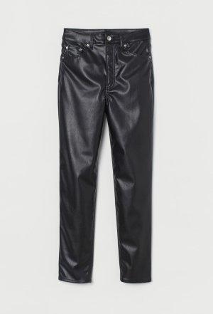 Neue High Waist Kunstleder Leder Hose von H&M Straigjt Leg Größe 40