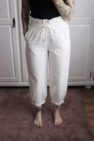 Neue High Waist Paperbag Ballon Mom Jeans Hose Größe 38