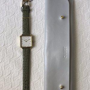 Cluse Montre avec bracelet en cuir kaki