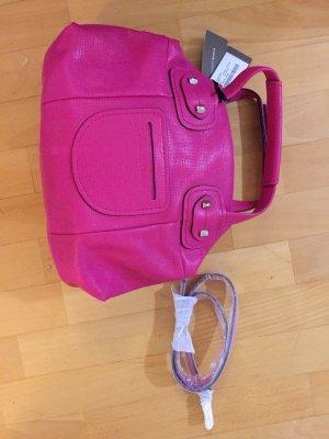 Francesco Biasia Bowling Bag magenta leather