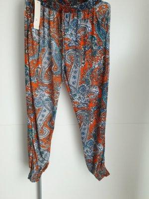 Pantalon large multicolore