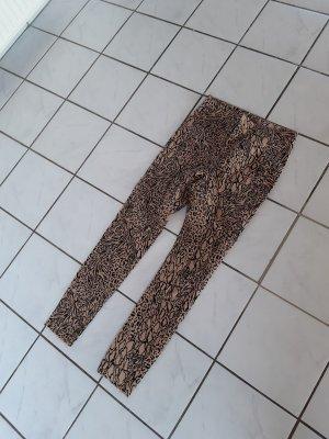 hm-moden Pantalone a vita alta nero-marrone chiaro