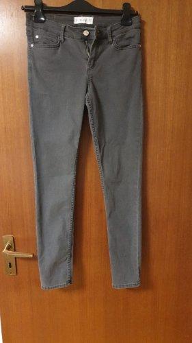 Mango Pantalone a vita bassa grigio