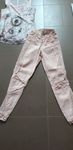 Tredy Drainpipe Trousers apricot