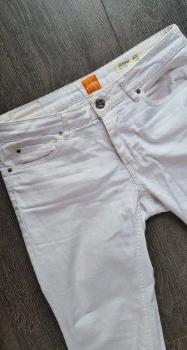 Hugo Boss Dopasowane jeansy biały