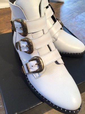 Low boot blanc cuir