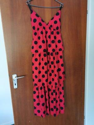 aus Italien Midi-jurk rood