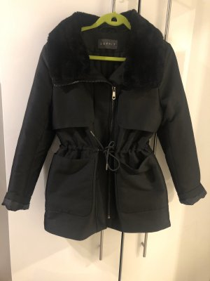 Esprit Fur Jacket black