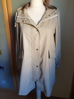 Zara Veste à capuche beige-chameau polyuréthane
