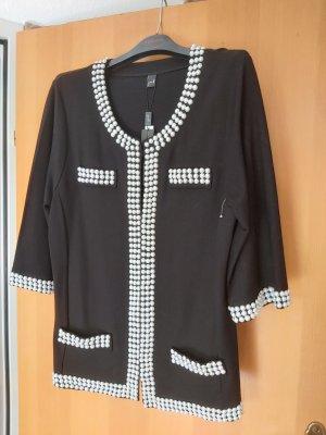 Yoek Blazer en maille tricotée blanc-noir
