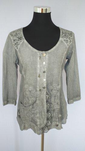 Tredy Blouse Jacket light grey-grey