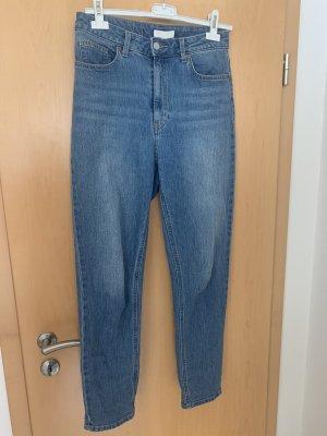 H&M Jeans carotte bleu acier-bleu azur