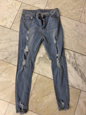 SheIn High Waist Jeans multicolored