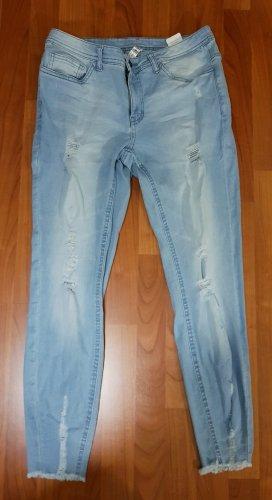 neue jeans skinny destroy gr.40 hellblau