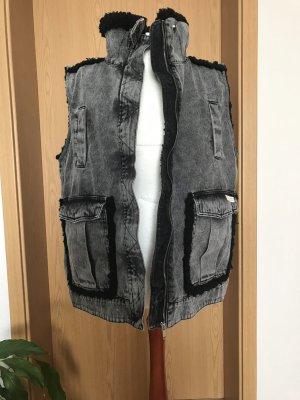 Urban Outfitters Jeansowa kamizelka szary-czarny