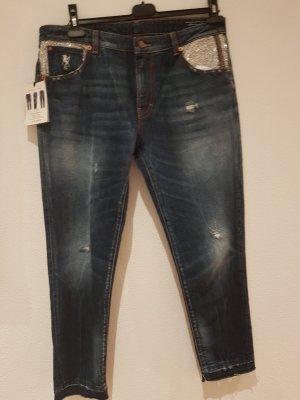 Avantgarde Boyfriend Jeans silver-colored-dark blue