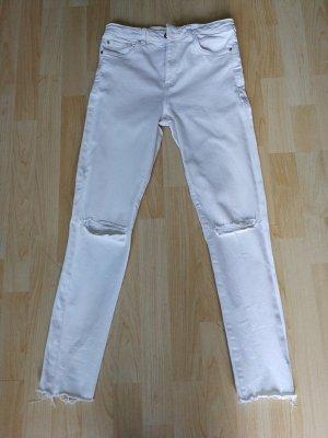Mango Jeans skinny blanc