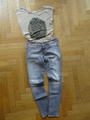 neue Jeans von Mavi, Serena low rise super skinny. tolle Farbe, hellgrau