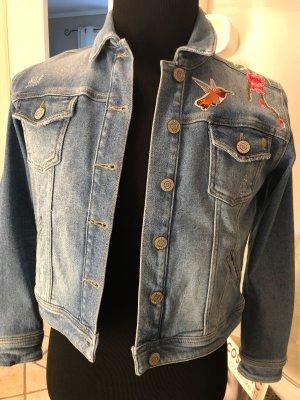 Neue Jeansjacke von Blue Fire XS Festival Hippie