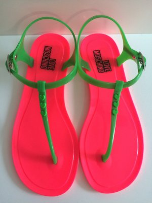 Love Moschino Toe-Post sandals magenta-neon green