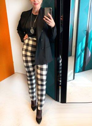 Dolce & Gabbana Pantalon taille haute blanc cassé-noir viscose