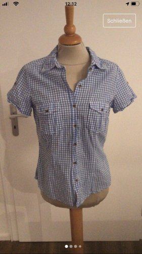 Neue Karo Bluse Vichy Karo hellblau von H&M LOGG 40