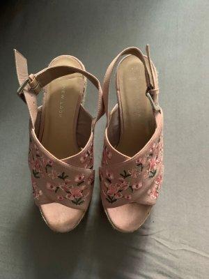 New Look Platform Sandals rose-gold-coloured
