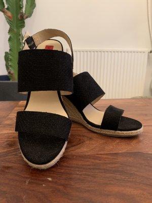 London Rebel Espadrille sandalen zwart-licht beige