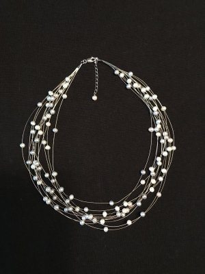 Collier Necklace white-light grey
