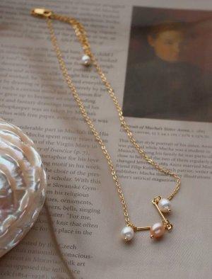 Lily Collar de perlas color oro