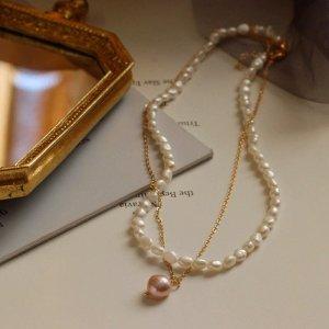 Lily Collana di perle oro
