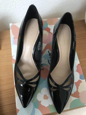 Neue Kitten Heels Pumps von Zara Gr. 35 Lack chloe-esque Audrey