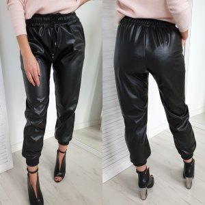Leren broek zwart