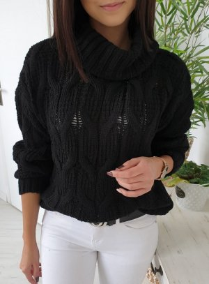 Maglione dolcevita nero